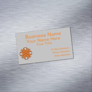 Orange Clover Ribbon Business Card Magnet