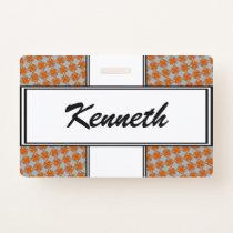 Orange Clover Ribbon by Kenneth Yoncich Badge