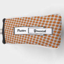 Orange Clover Ribbon by Kenneth Yoncich Golf Head Cover