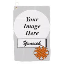 Orange Clover Ribbon by Kenneth Yoncich Golf Towel