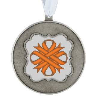 Orange Clover Ribbon by Kenneth Yoncich Ornament