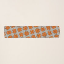 Orange Clover Ribbon by Kenneth Yoncich Scarf