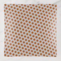 Orange Clover Ribbon by Kenneth Yoncich Trinket Trays