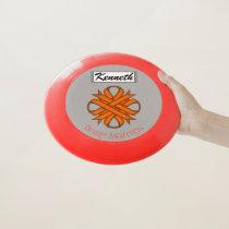 Orange Clover Ribbon by Kenneth Yoncich Wham-O Frisbee