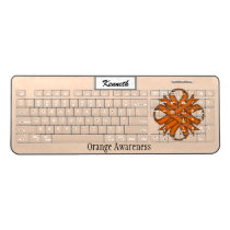 Orange Clover Ribbon by Kenneth Yoncich Wireless Keyboard