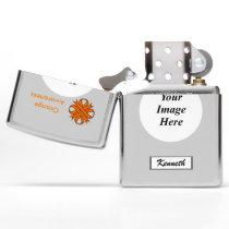 Orange Clover Ribbon by Kenneth Yoncich Zippo Lighter