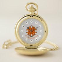Orange Clover Ribbon (Cf) by K Yoncich Pocket Watch