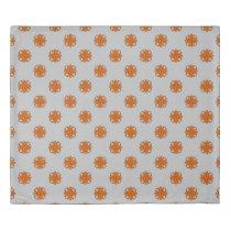 Orange Clover Ribbon Duvet Cover