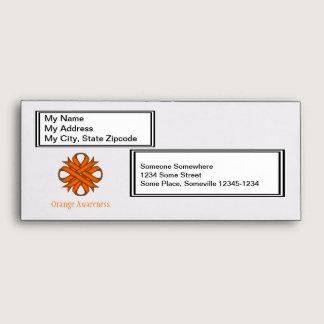 Orange Clover Ribbon Envelope