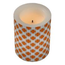 Orange Clover Ribbon Flameless Candle