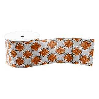 Orange Clover Ribbon Grosgrain Ribbon