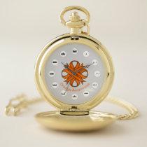 Orange Clover Ribbon (Mf) by K Yoncich Pocket Watch