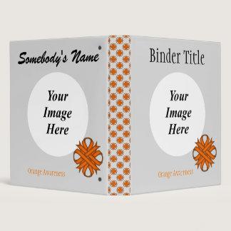 Orange Clover Ribbon Template 3 Ring Binder