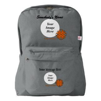 Orange Clover Ribbon Template Backpack