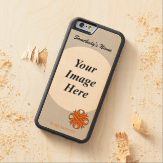 Orange Clover Ribbon Template by Kenneth Yoncich Carved Maple iPhone 6 Bumper Case