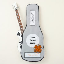 Orange Clover Ribbon Template by Kenneth Yoncich Guitar Case