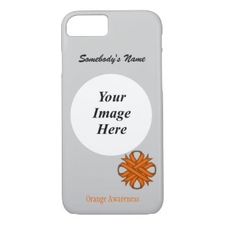 Orange Clover Ribbon Template by Kenneth Yoncich iPhone 7 Case