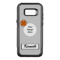 Orange Clover Ribbon Template by Kenneth Yoncich OtterBox Commuter Samsung Galaxy S8  Case