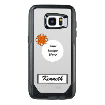 Orange Clover Ribbon Template by Kenneth Yoncich OtterBox Samsung Galaxy S7 Edge Case