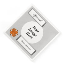 Orange Clover Ribbon Template by Kenneth Yoncich Paper Dinner Napkin