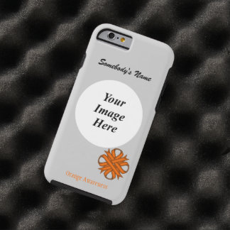 Orange Clover Ribbon Template by Kenneth Yoncich Tough iPhone 6 Case