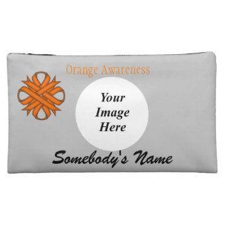 Orange Clover Ribbon Template Cosmetic Bag