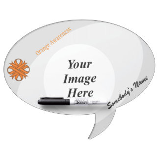 Orange Clover Ribbon Template Dry Erase Board