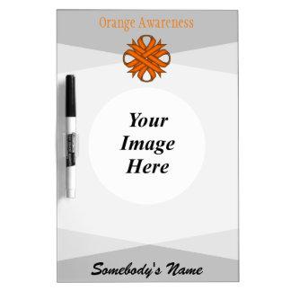 Orange Clover Ribbon Template Dry-Erase Board