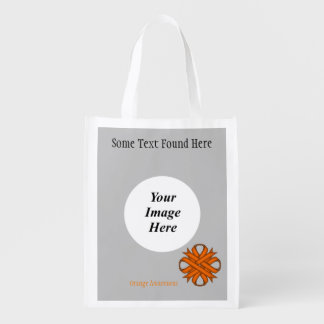 Orange Clover Ribbon Template Grocery Bag