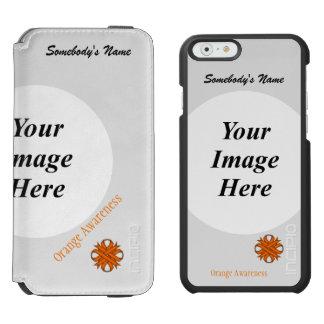 Orange Clover Ribbon Template iPhone 6/6s Wallet Case