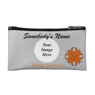 Orange Clover Ribbon Template Makeup Bag