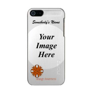 Orange Clover Ribbon Template Metallic Phone Case For iPhone SE/5/5s