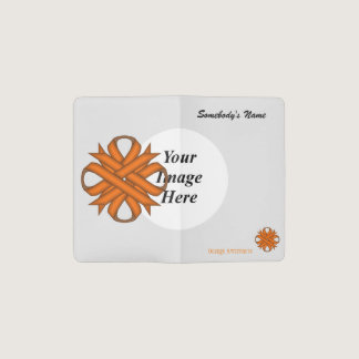 Orange Clover Ribbon Template Pocket Moleskine Notebook