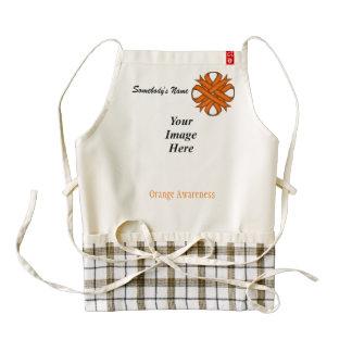 Orange Clover Ribbon Template Zazzle HEART Apron