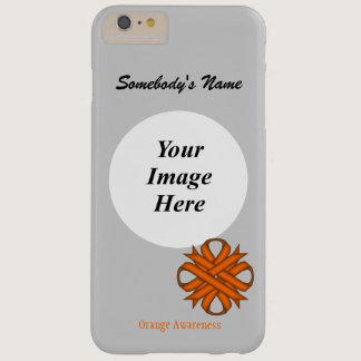Orange Clover Ribbon Tmpl by Kenneth Yoncich Barely There iPhone 6 Plus Case