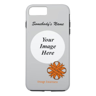 Orange Clover Ribbon Tmpl by Kenneth Yoncich iPhone 7 Plus Case