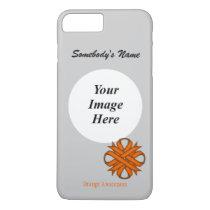 Orange Clover Ribbon Tmpl by Kenneth Yoncich iPhone 8 Plus/7 Plus Case