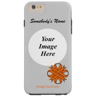 Orange Clover Ribbon Tmpl by Kenneth Yoncich Tough iPhone 6 Plus Case