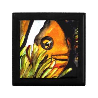 Orange Clown Fish watercolor original art painting Gift Box