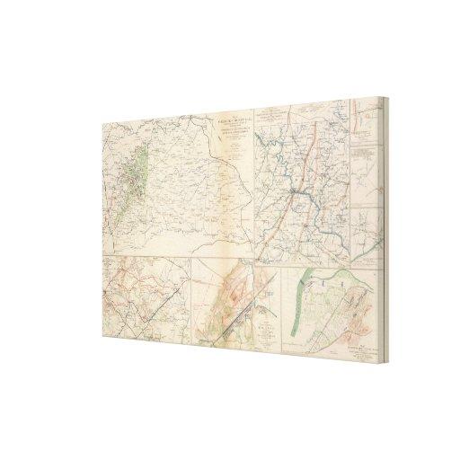 Orange Co, Va, Mine Run, Rapidan River Canvas Print