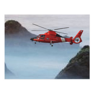 Orange Coast Guard Helicopter Postcard