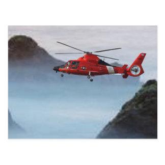 Orange Coast Guard Helicopter Postcard