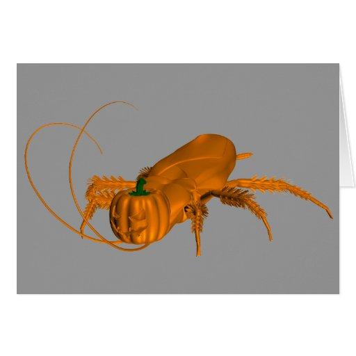 Orange Cockroach Card