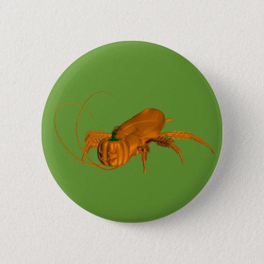 Orange Cockroach Pinback Button