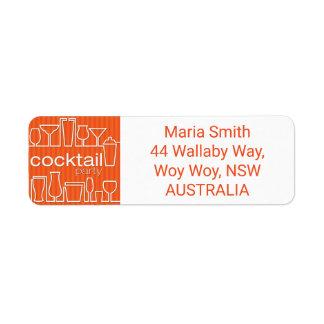 Orange cocktail party label