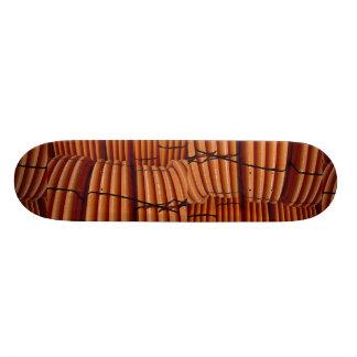 Orange coiled plastic tubing Photo Skate Boards