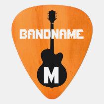 orange-color, band-name guitar pick