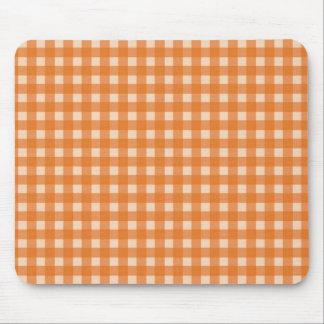 orange color country plaids mouse pad