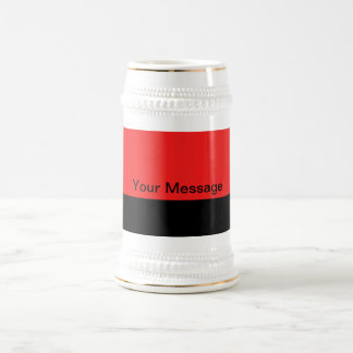 Orange Color Design Beer Stein