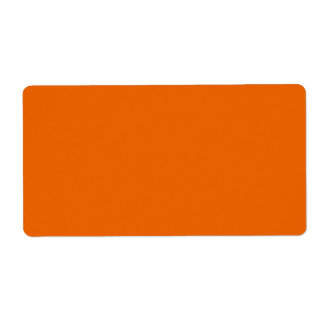 Orange Color Label